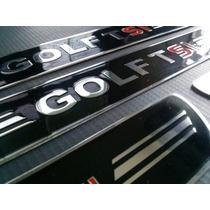 Jogo Soleira Aço Inox Polido Premium Vw Golf Tsi 2014 2015