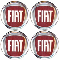 Logo Tipo Modelos Fiat Calota Ou Roda 4 Peças 51mm
