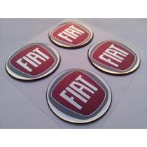 Emblema Fiat Vermelho Botom Calota Roda Resinado 58mm