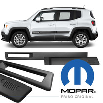 Kit Jeep Renegade Jogo Friso Lateral Borrachão Original 4