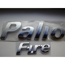 Kit Emblemas Cromado Palio + Fire P/ Fiat 2004/... - Bre
