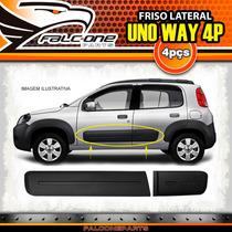 Friso Lateral Preto Fiat Uno Way 2010 A 2014 4 Portas