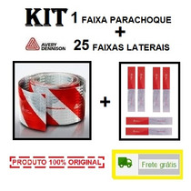Kit Faixa Refletiva Parachoque + 25 Lateral Avery Caminhão