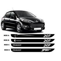 Adesivo Faixa Lateral Peugeot 207 Tuning 2 Ou 4 Portas