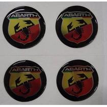 Jogo Emblema Abarth Botom Para Calota Roda Esportiva 51mm