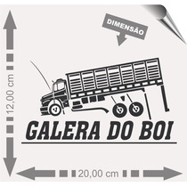 Adesivo Automotivo Caminhão Boiadeira