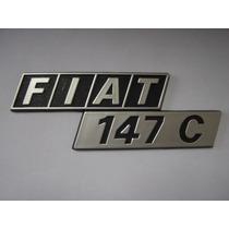 Emblema Fiat 147 C P/ Porta Malas - Bre