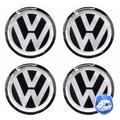 Jogo Emblemas Volkswagen P/ Calota Ou Roda C/4 Peças 110mm