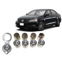 Jgo Bicos De Pneu Anti-furto Cromado Volkswagen Frete Gratis