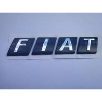 Emblema Mala Fiat Azul Letras Separadas P/ Palio 01/07 - Bre