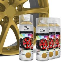 Kit Spray Envelopamento Líquido Rodas Dourado