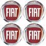 Logo Tipo Modelos Fiat C/ Calota Ou Roda P/ 4 Peças 58mm