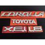 Kit Emblemas Toyota Corolla 1.8 Xei Até 2003