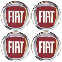 Logo Tipo Modelos Fiat Calota Ou Roda 4 Peças 55mm