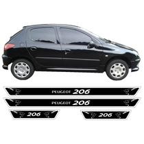 Jgo Soleira Resinada Mod2 Peugeot 206 4 Portas