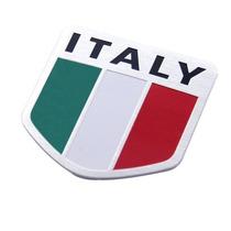 Adesivo Tuning 3d Italy - Itália - Alumínio