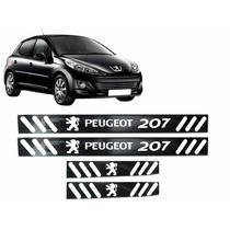 Soleira Vinil Black Piano Peugeot 207 4 Portas