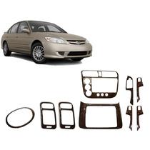 Kit Painel Madeira Cambio Manual Honda Civic 01/05 Painelkit