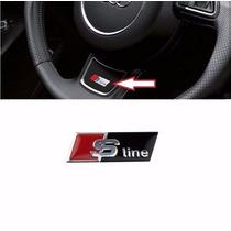 Emblema Sline 3d Volante Audi A4 A1 A3 Q3 Tt S3 Frete Gratis