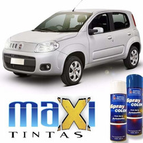Tinta Spray Automotiva Fiat Prata Bari + Verniz 300ml