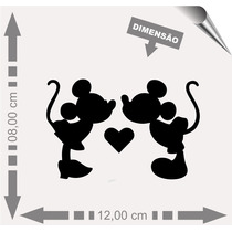 Vinil Adesivo Automotivo Minnie E Mickey