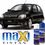 Tinta Spray Automotiva Gm Preto Liszt + Verniz 300ml
