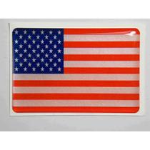 Adesivo Bandeira Eua Resinado 4x6cm Bd12 - Decalx