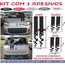 Kit Adesivo Fiat Punto Stilo Bravo 147t Capo Traseira Teto