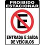 Adesivo Placa De Sinalização Proibido Estacionar - Grande