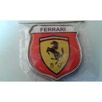 Emblema Ferrari Moldura Cromada (par) Frete Grátis