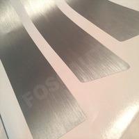 Kit Adesivo Soleira Preto Fosco Fibra Carbono Aço Escovado