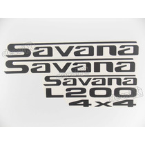 Kit Adesivos L200 Savana 4x4 - Decalx