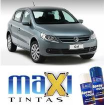 Tinta Spray Automotiva Vw Cinza Vulcan + Verniz 300ml
