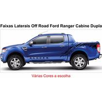 Faixas Laterais Off Road Ford Ranger Várias Cores