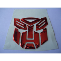 Adesivo Tuning Transformers Autobot + Decepticons Vermelho