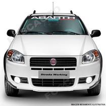 Adesivo Decorativo Parabrisa Abarth Fiat Palio Siena Linea