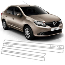 Jogo Friso Lateral Resinado Vazado Renault Logan - Cromado