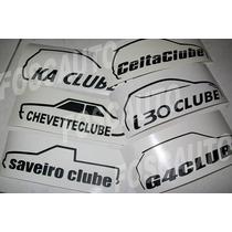 Adesivo Carro Club Gol G3 G4 G5, Palio, Golf, Corsa, Vectra