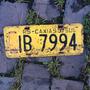 Placa Amarela Antiga Traseira Ib-7994 Caxias Do Sul - Rs