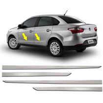 Kit Friso Lateral Cromado Fiat Grand Siena Novo Palio 4 Pçs