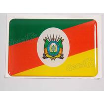 Adesivo Bandeira Rio Grande Do Sul Resinado 4x6cm - Decalx