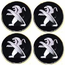 Jogo Emblema Peugeot Botom Para Calota Roda Esportiva 48mm