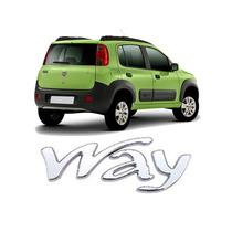 Emblema Plastico Way Cromado Fiat Uno Palio