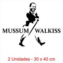 Adesivo Mussum Walkiss - Caminhão 2 Unidades