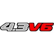 Adesivo Resinado 4.3 V6 Blazer/s-10 2003 Prata Pequeno