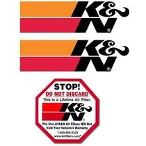 Kit Adesivos K&n Originais - 3 Adesivos K&n Kn