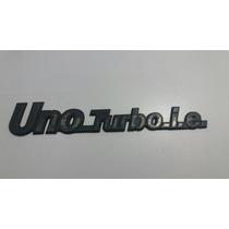 Emblema Traseiro Uno Turbo Original Usado + Frete Grátis!