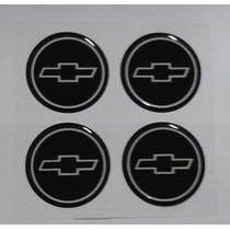Jogo Emblemas Chevrolet Gm Calota Ou Roda 65mm