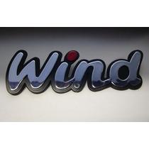 Emblema Wind Com Pingo Vermelho P/ Chevrolet Corsa 94/.- Bre