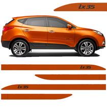 Jogo Friso Lateral Hyundai Ix35 2016/.... - Laranja Novo !